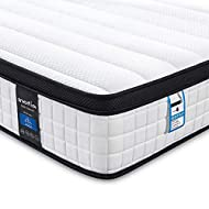 Inofia Double Memory Foam Sprung Mattress 10.6 Inch,4FT6 Spring Mattress with Innovative Wave Memory...