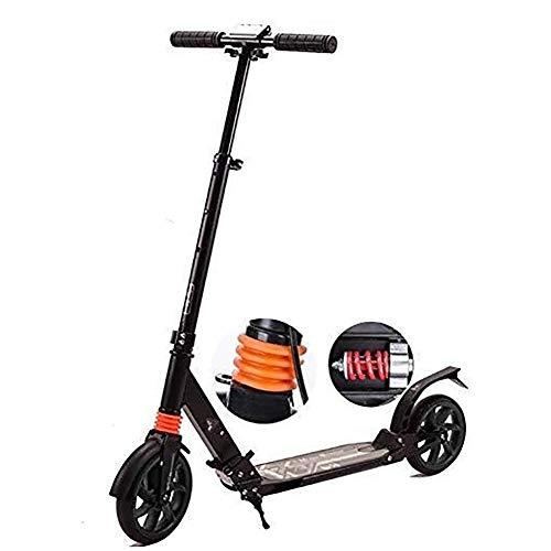 SOAR Patinetes Para Niños Barras de motos, Scooter adultos, Vespa Ruedas, Kick Kick plegable con asa regulable for adultos, los adolescentes con doble amortiguador Sistema, 150Kg de carga, no eléctric