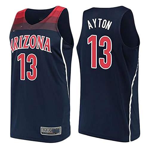 TYUIY Chaleco de Baloncesto para Hombres, Adecuado para Camisetas de Baloncesto de la Universidad de Ayton, Malla de poliéster, Secado rápido y Transpirable, el Mejor rega Blue-L
