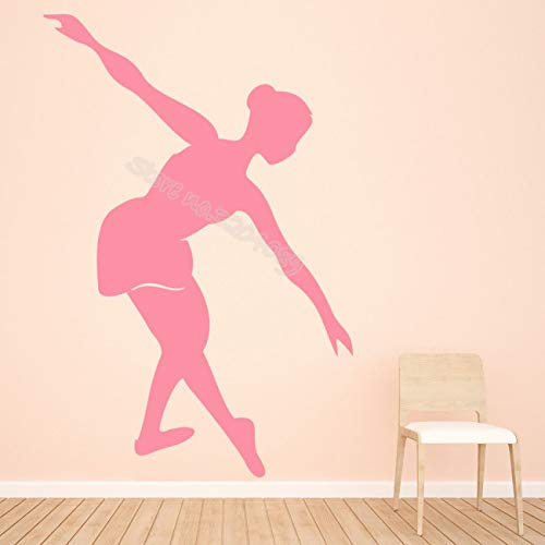 Sanzangtang Ballerina muursticker ballet danser stretch silhouet applicatie afneembaar Art-Deco-meisje ruimtedance studio behang