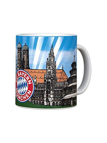 FC Bayern München Tasse Skyline Metallic Logo