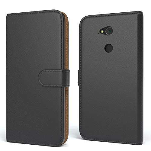 EAZY CASE Tasche für Sony Xperia XA2 Ultra Schutzhülle mit Standfunktion Klapphülle im Bookstyle, Handytasche Handyhülle Flip Cover mit Magnetverschluss & Kartenfach, Kunstleder, Schwarz