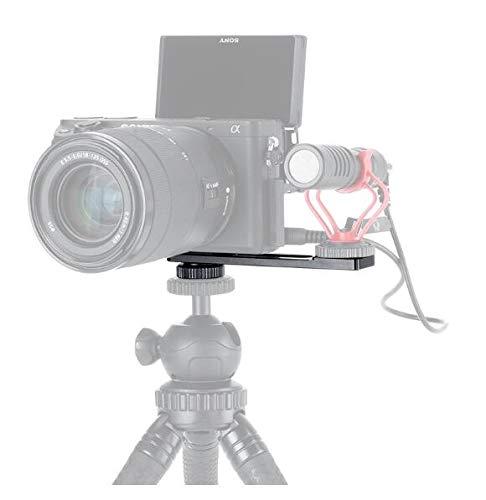 VBESTLIFE PT-5Stand Supporto Adattatore per Telecamera, Attacco per Microfono con Foro per Vite da 1/4 di Pollice, Adatta per Sony A6400 A6500 A6300 e Supporto per Microfono Vlog