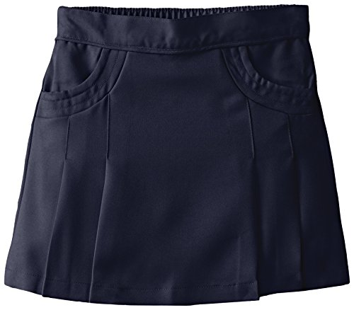 Nautica Girls' Big School Uniform Pleated Scooter with Pockets, Navy, 8