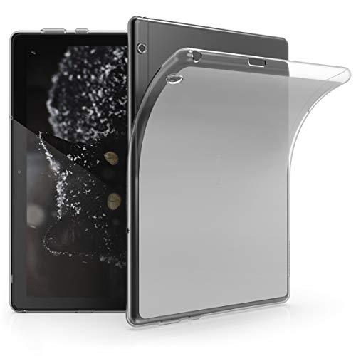 kwmobile Hülle kompatibel mit Huawei MediaPad T5 10 - Silikon Hülle transparent - Tablet Cover Transparent