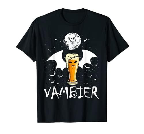 Vambier Halloween JGA Malle Bier Fledermaus Vampir Kostüm T-Shirt