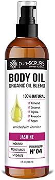 Purescrubs Ultra Moisturizing Jasmine Body Oil Spray, 4oz