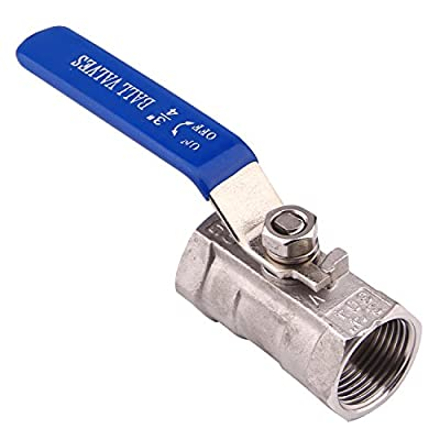 DERNORD 1PC Type Stainless Steel 3/4 Inch Ball Valve NPT Standard Port for Water, Oil, and Gas from DERNORD