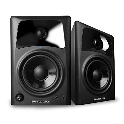 M-Audio AV42 | Compact Active Desktop Reference Monitor Speakers For Premium Playback,...
