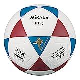 MIKASA FT5 FQ BR, balón de fútbol Unisex Adulto, Blanco/Azul/Rojo, 5
