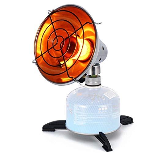 WYYW Lámpara portátil Calentador de Camping al Aire Libre de la Comida campestre de Calor, Calentador de Patio, jardín al Aire Libre eléctrico, Tanque-propano Calentador de (Sin Tanque de propano)