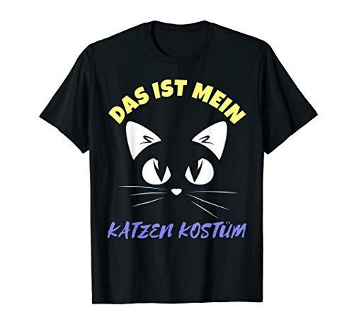 Das ist Mein Katzen Kostüm Party T-Shirt für Karneval T-Shirt