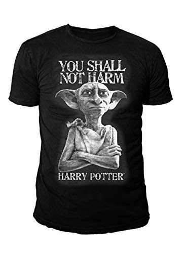 Harry Potter – Camiseta premium para hombre – Dobby der Hauself (Negro) (S – XL) Negro L