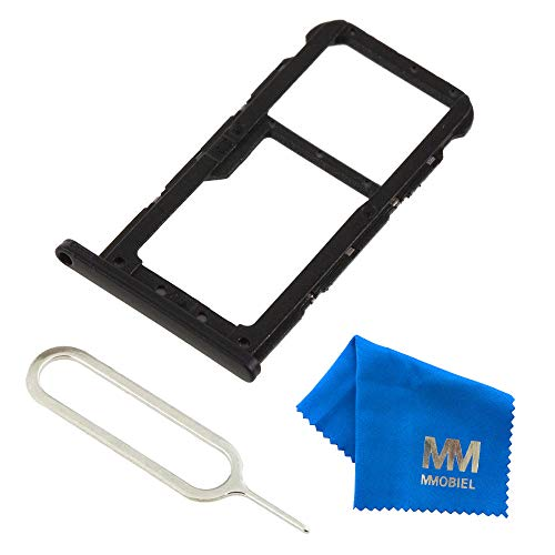 MMOBIEL SIM Karte Schlitten Slot kompatibel mit Huawei P20 Lite 5.84 Inch (Schwarz) inkl. SIM Pin