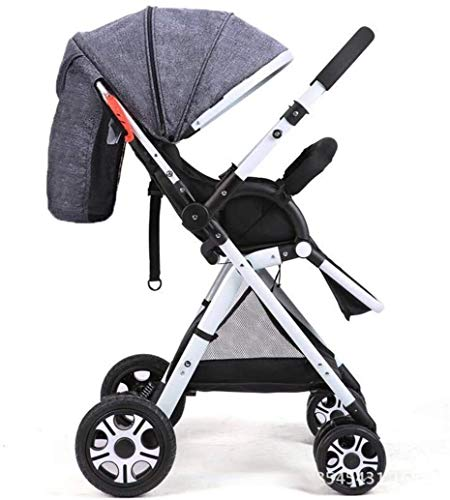 Buy Ranzorh Foldable Stroller high Landscape Stroller Dual-Purpose Stroller can sit and Lie Foldable...