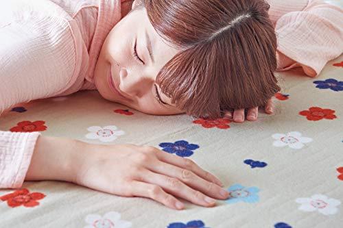 Sugiyamaコットン100%肌に優しい電気綿敷毛布ロングSSW20MSL07(SG)サクラグレー