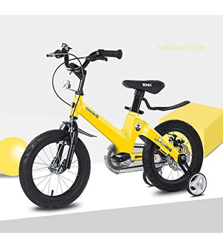 SJSF Y Kinderfahrrad für 12\'\'14\'\'16\'\'18 \'\', 2-12 Jahre altes Kleinkind Laufräder (Spielzeug) Pedal Fuß Kinder Dreirad Rollen und Bremse Counterpedal - Fahrrad,16inches