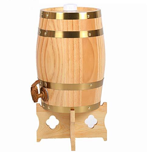 KOUJ 20L Vertical Barril Almacenamiento De Vino para Cognac Ron Sangria Licor Cerveza Envejecida Dispensador,C