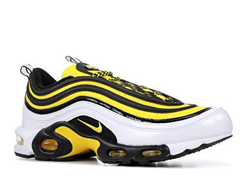 Nike Air Max Plus 97, Baskets Hommes, White/Tour Yellow/Black, 47.5 EU