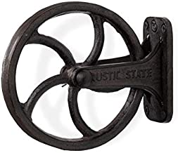 Rustic State Halat Cast Iron Vintage Industrial Wheel Farmhouse Wall Mount Pulley 6.75 Inch Diameter for Custom Make Lamps and Fixtures