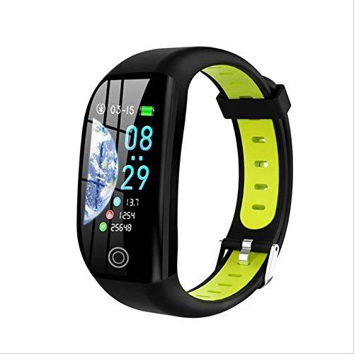 DAJUZI Smart Band Women Fitness Bracelet Heart Rate Monitor de presión Arterial Hombres GPS Sport Tracker Reloj Inteligente para Android iOSNegro Verde
