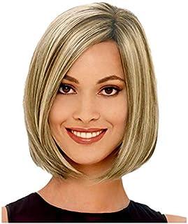 حار رويلى الذهب بوبو رئيس الشعر القصير الشعر المستعار سيدة الشعر القصير الباروكات جولة الذهب M19-320