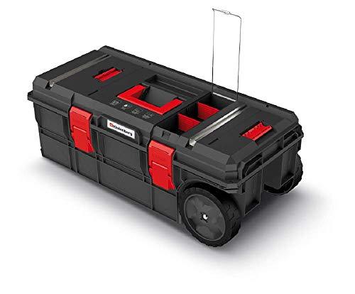 Rollende Werkstatt Werkzeugkasten Werkzeugkiste Werkzeugwagen Werkzeugbox mit Trennwänden Ladefähigkeit bis 50 kg Kunststoff 795 x 380 x 307 mm Modulserie X-Block