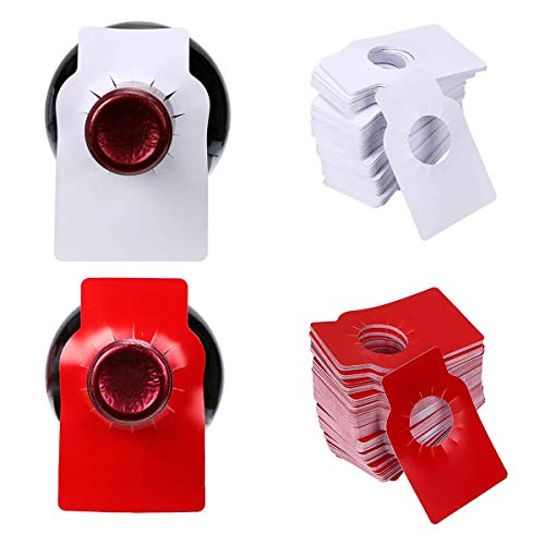Qiundar Etiquettes Bouteilles de Vin en PVC, 300 Pcs Etiquettes à Accrocher Etiquette de Cave a Vin...