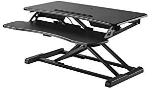 Halterungspro GTS-012 Standing Seat Desk Sit-Stand Workstation Height-Adjustable Table for Work Sitting or Standing with Gas Lift