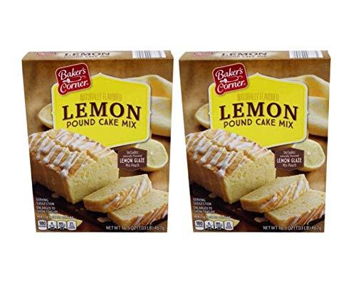 Baker's Corner Naturally Flavored Lemon Pound Cake & Glaze Mix - 2 Pk (2.06 lb)