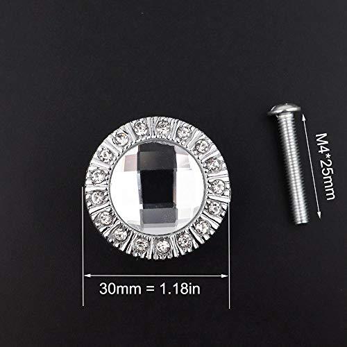 wkd-thvb 20-40Mm Kristal Glas Knoppen Handgrepen Dressoir Lade Keukenkast Trek Kast Handvat
