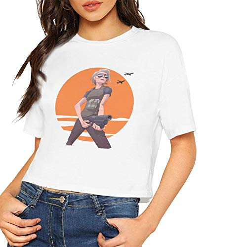 Price comparison product image BIGFANSS Sarah Connor T Shirt Breathable Casual Fashion Personal Shirt for Women White