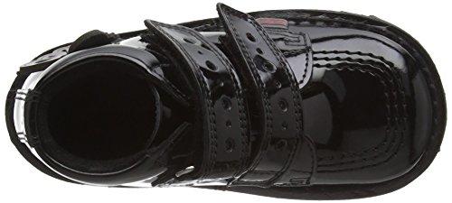 Kickers Unisex Babies Kick Flutter Black Patent Leather School Shoes, Black, 8 UK Child