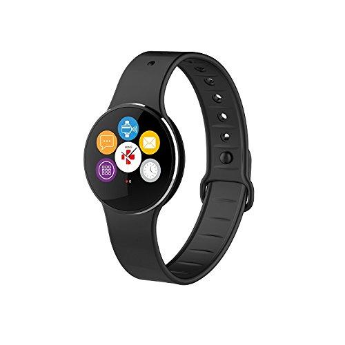MyKronoz ZeCircle2 Fitnessband Tracker Uhr Activity, Schwarz, One Size