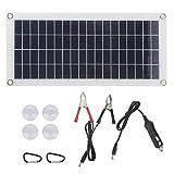 SALUTUYA Panel de Cargador Solar portátil Cargador de Panel de célula Solar USB de 10W Flexible para Carga de batería de Barco para Luces publicitarias