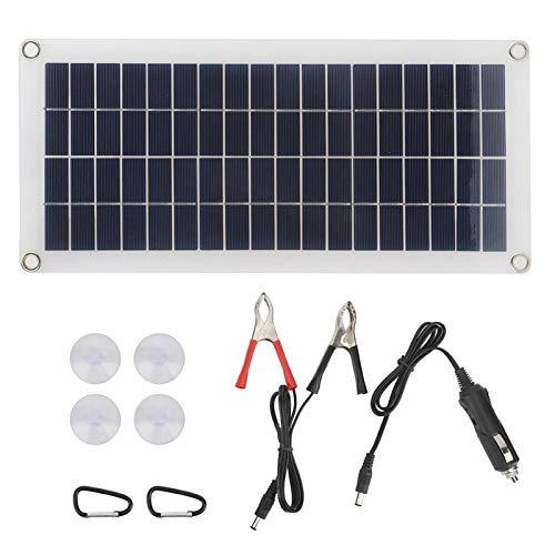 FOLOSAFENAR Panel Solar de 10W con Cable USB Cargador de energía Solar...