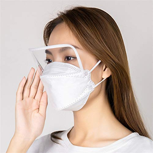 Best Review Of Disposable 4-Layer White Protective, Breathable, Comfortable and Soft with Eyes Shiel...