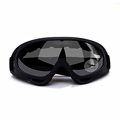 Freehawk Adjustable UV Protective Outdoor Glasses Motorcycle Goggles Protective Combat Goggles Military Sunglasses Outdoor Tactical Goggles to Prevent Particulates in Grey Lens