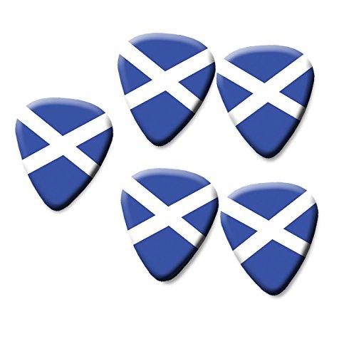 SCOTLAND SCOTTISH SALTIRE FLAG printed plectrum guitar picks set of 5
