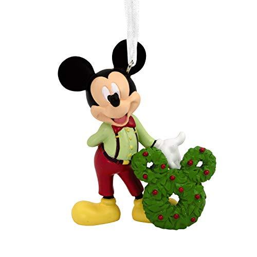 Hallmark Christmas Ornaments, Disney Mickey Mouse With Wreath Ornament