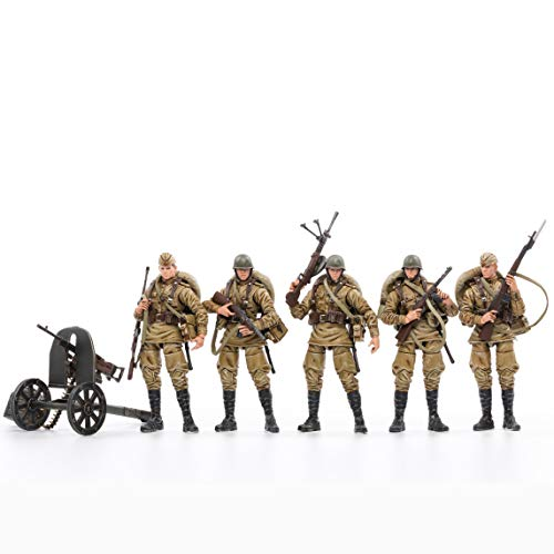 JOYTOY 1/18 Action Figures 4-Inch WWII Soviet Infantry Figure PVC Military Model Collection Toys