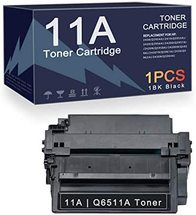 1PK Black Ink 11A Compatible 11A Q6511A Toner Cartridge Replacement for HP Laserjet 2430 Q5954A product image
