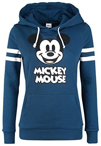 Micky Maus Stripes Frauen Kapuzenpullover blau XL