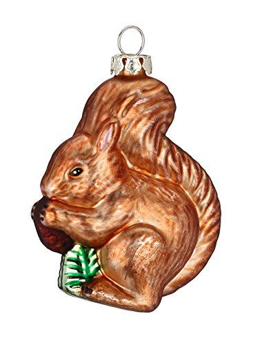 MAGIC Christbaumschmuck Weihnachtskugeln Figuren Tiere Auswahl: Eichhörnchen braun 7.5cm