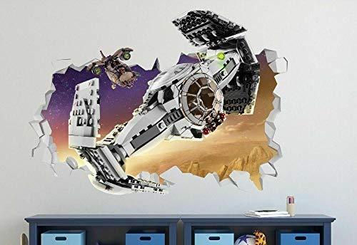 HQSM Wandtattoo Cartoon movie Space Spacecraft Custom Wall Decals 3D Wall Stickers Art