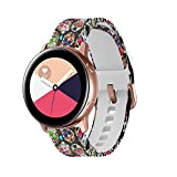 GinCoband Colorful Galaxy Watch Bands for Samsung Galaxy Watch 42mm,Galaxy Watch Active 40mm,Galaxy Watch Active2 40mm 44mm,Gear Sport,Rose Gold Watch Buckle for Women (Rose Skull, Large)
