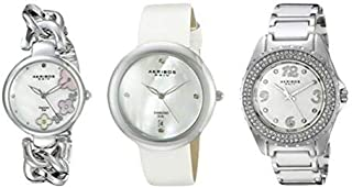 Akribos Xxiv Women's Casual Watch 3 Piece Set - Ak887Ss, Analog Display