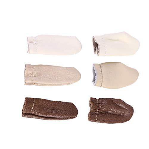 HEALLILY 6 STÜCKE Leder Fingerschutz Filzen Fingerschutz Fingerlinge Abdeckung Nähen Handwerk Werkzeug