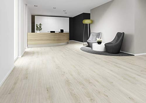 JOKA Hochwertiger Vinylboden/Laminat Dielen PVC zum kleben, Design 555 Nr.: 5531 Sandy Oak, edle Holzoptik Paket = 3,37 qm mit Musterservice
