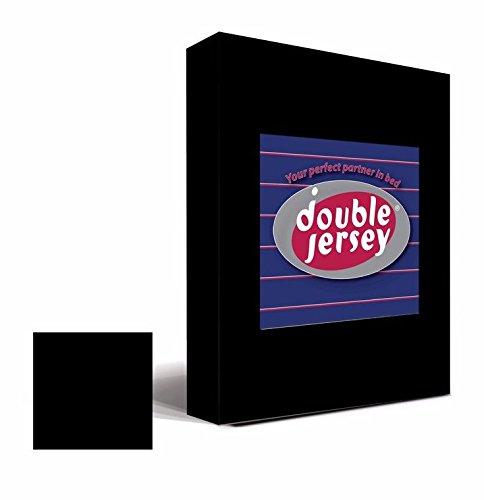 #1 Double Jersey Jersey Spannbettlaken, Spannbetttuch, Bettlaken, 160x200x30 cm, Schwarz - 4